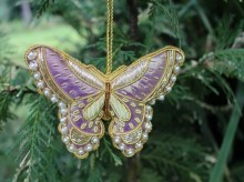 IN-TA-C59 Decoration Butterfly Golden Pearls