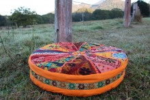 Kuchi floor cushion orange 53cms diam IN-AE-DH58
