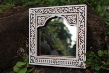 Mirror Sheeshamwood Engraved