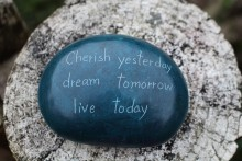 PalewaStone Paper Weight Cherish Yesterday
