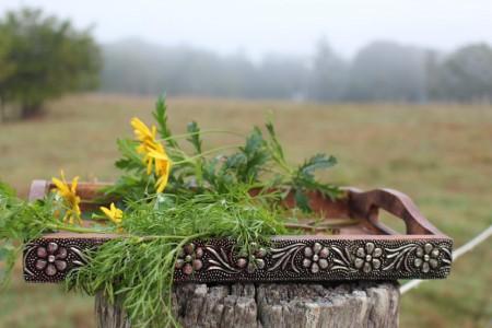 thumbnail_Tray Rectangular Floral Metal Edging